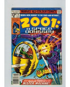 2001 A Space Odyssey (1976) #   9 UK Price (4.0-VG) 2nd Machine Man