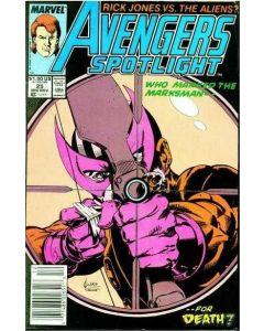 Avengers Spotlight (1987) #  25 (5.0-VGF) Jusko Cover