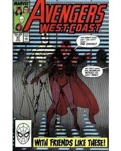 Avengers West Coast (1985) #  47 (3.5-VG-)