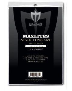MaxLites 2 Silver Comic Size Super Clear Comic Bags (100)
