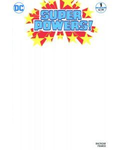 Super Powers (2016) #   1 Blank Variant Cover (9.0-VFNM)