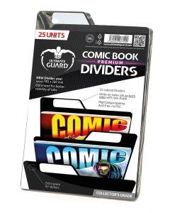 Ultimate Guard Premium Comic Book Dividers Black (25)
